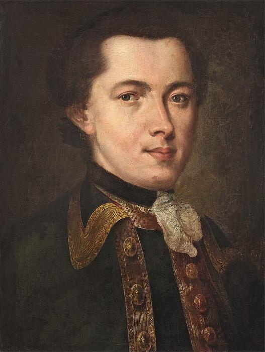 Портрет молодого человека в гвардейском мундире - вероятный автопортрет Федора Рокотова