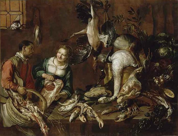 На картине Феличе Бозелли в левом верхнем углу - кот