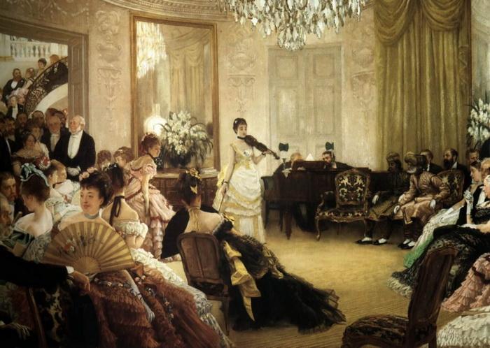 XIX век в России и Европы был временем расцвета салонной культуры