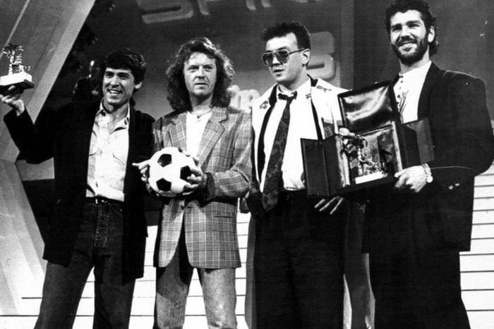 Победители 1987 года; слева - Джанни Моранди