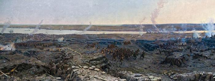 Панорама «Оборона Севастополя», фрагмент