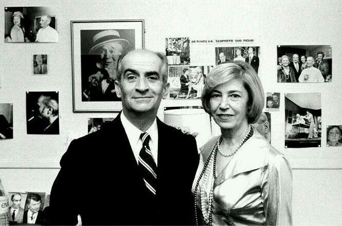 Луи де Фюнес с женой Жанной