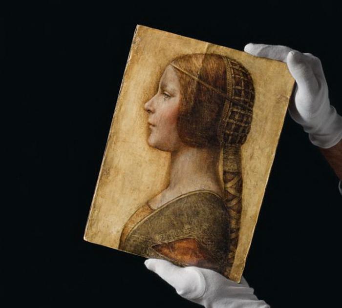 Рисунок, изображающий молодую девушку, был выставлен на торги аукционного дома «Кристис»  в 1998 году