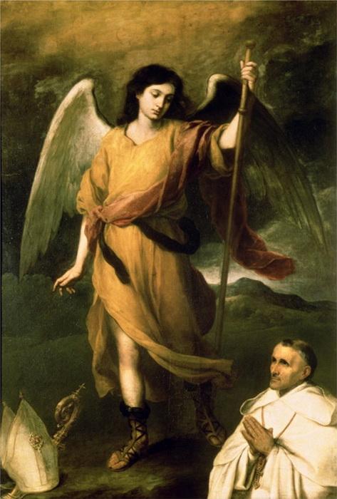 Б.Э. Мурильо. Архангел Рафаил с епископом Домонте