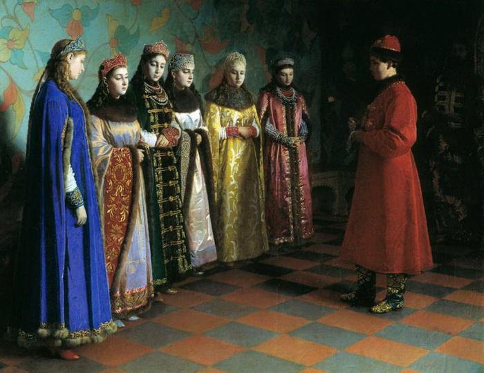 Г. Седов Выбор невесты царем Алексеем Михайловичем