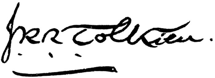 Так выглядит подпись Джона Толкиена