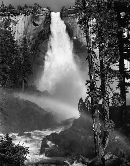 Водопад в Неваде. Фото 1947 года