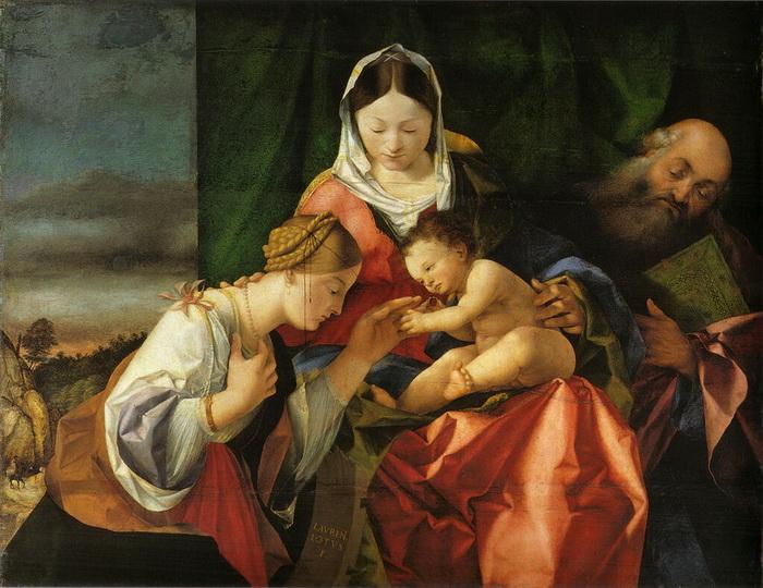 Л. Лотто. Обручение Святой Екатерины