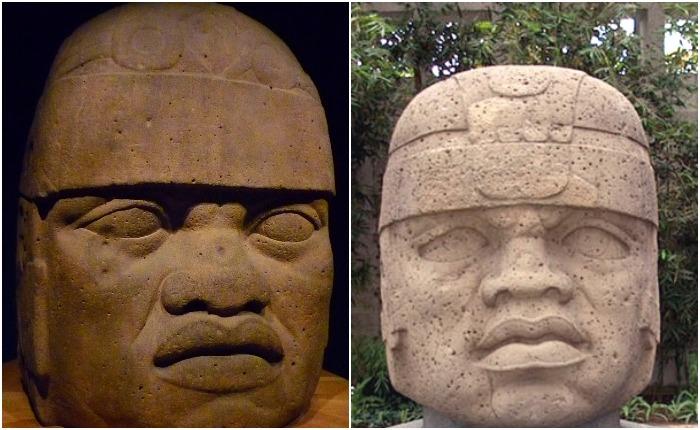 Гигантские головы ольмекской культуры. Источник: wikipedia.org
