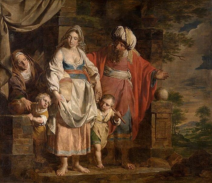 П. Верхаген. Авраам высылает Агарь из дома