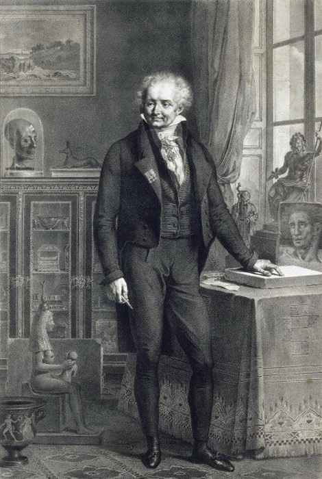 Р.-Т. Бертон. «Барон Виван Денон в своем кабинете в Лувре»