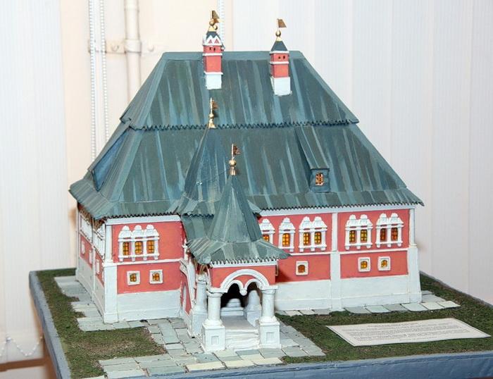 Макет дома Анны Монс в Немецкой слободе