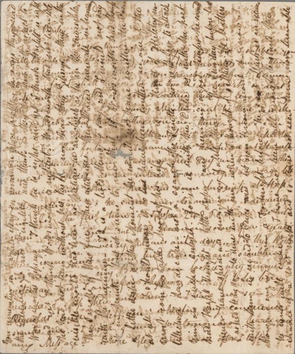 Страница письма поэта Джона Китса