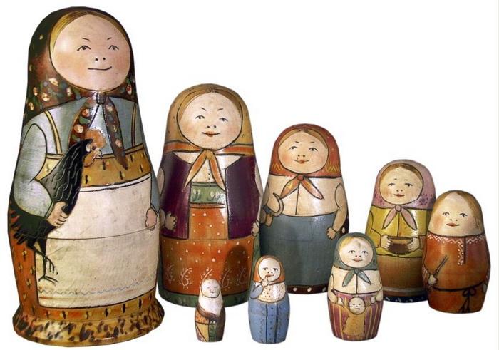 История русской матрешки не такая и давняя, она начинается с выставки 1900 года