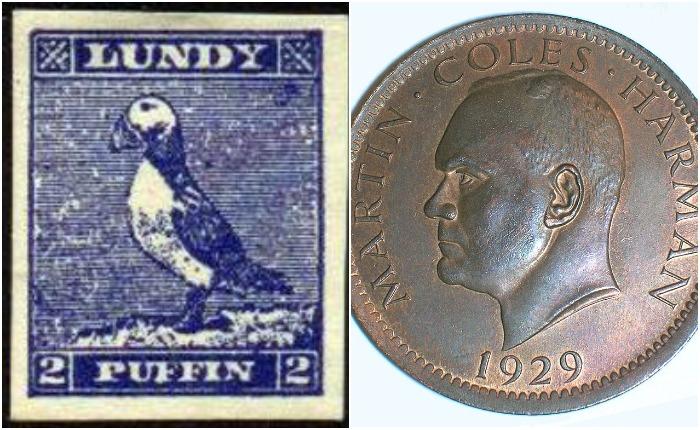 Марка и монета «королевства» Ланди