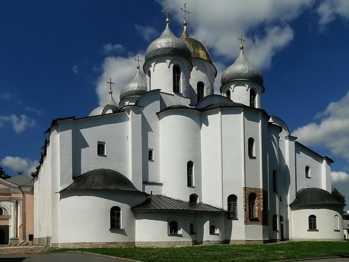 Софийский собор в Великом Новгороде, где сохранились фрески на глаголице
