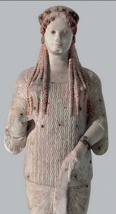 Кора - статуя девушки (период архаики)
