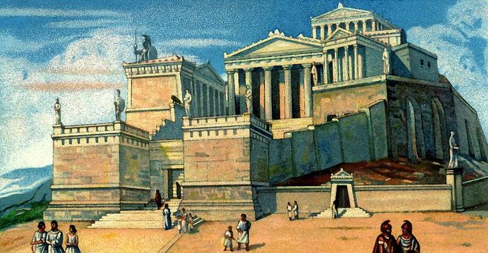 Так мог выглядеть Афинский Акрополь в древности