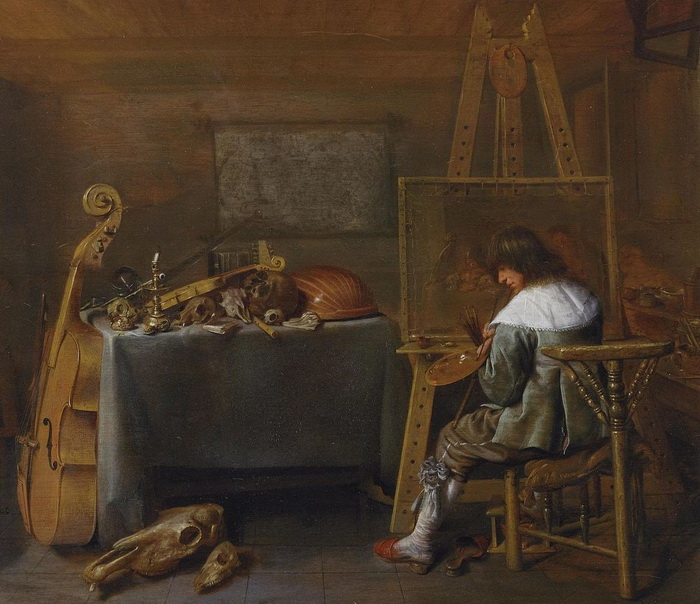 Я.М. Моленар. «Автопортрет в мастерской»