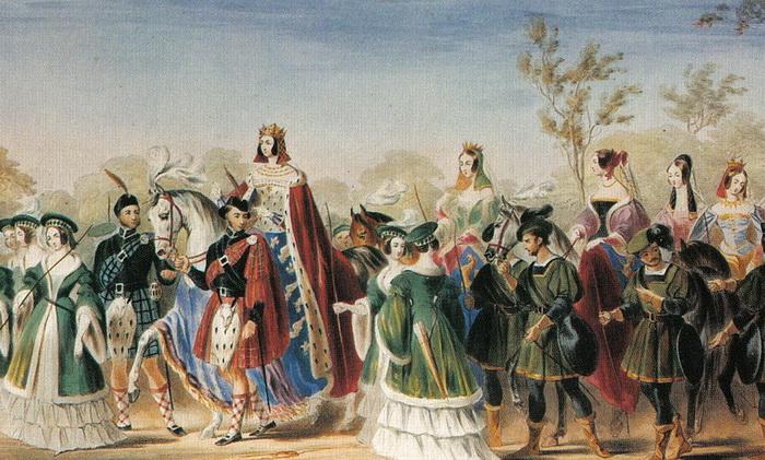 Джорджиана Сеймур на турнире-реконструкции в 1839 году получила титул королевы красоты