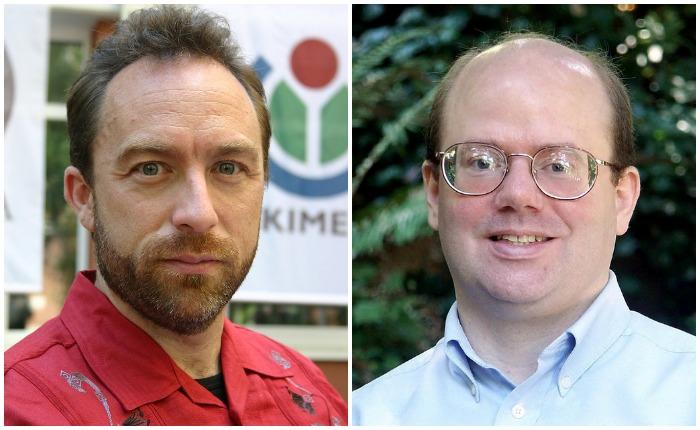 Создатели «Википедии» - Джимми Уэйлс и Ларри Сэнгер
