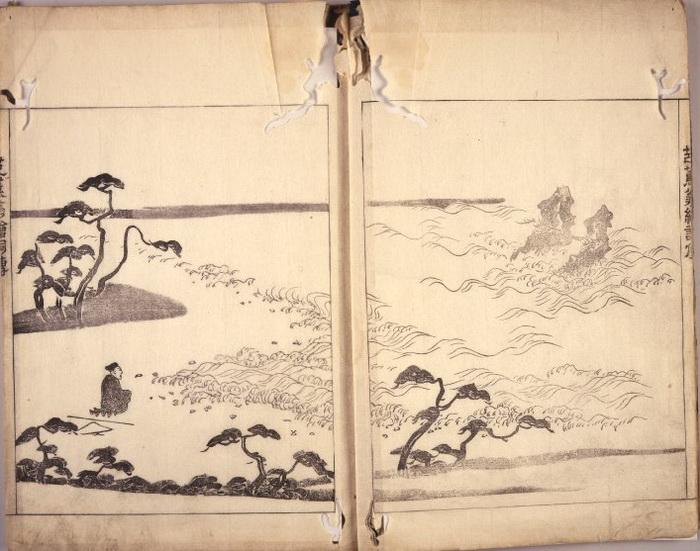 Иллюстрация странствий Басё в книге 1793 года