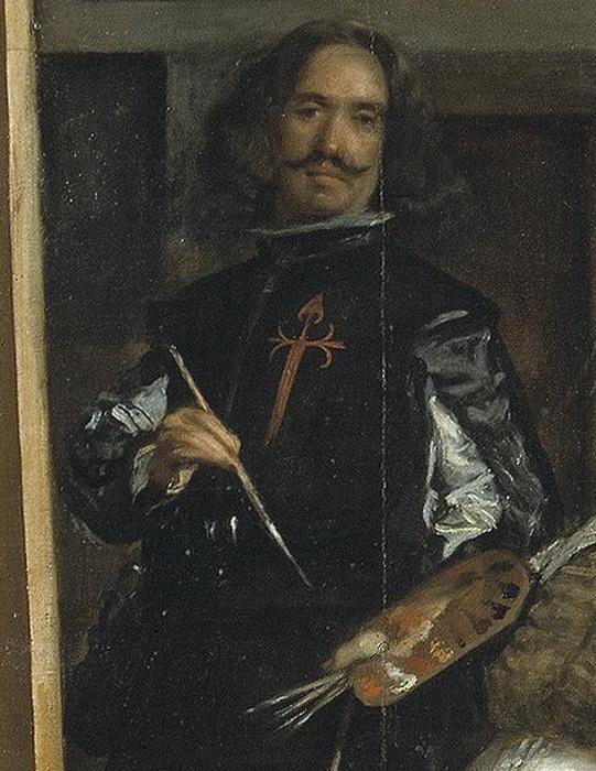 Фрагмент картины - автопортрет Веласкеса