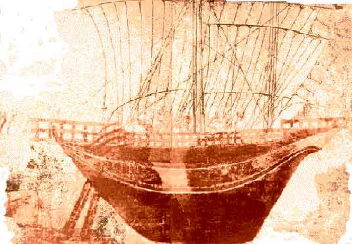 Фрагмент фрески с изображением корабля этрусков