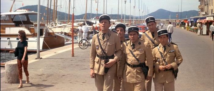 Из фильма «Жандарм из Сен-Тропе» - набережная города