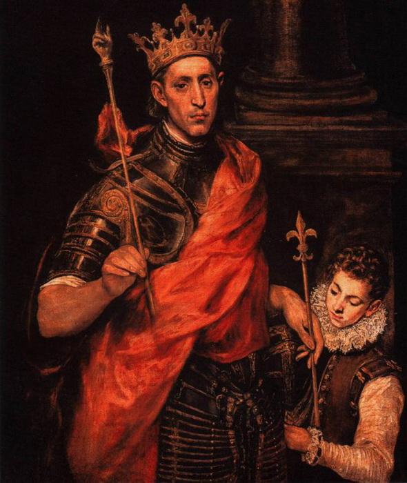 Эль Греко. Святой Людовик, король Франции, и паж