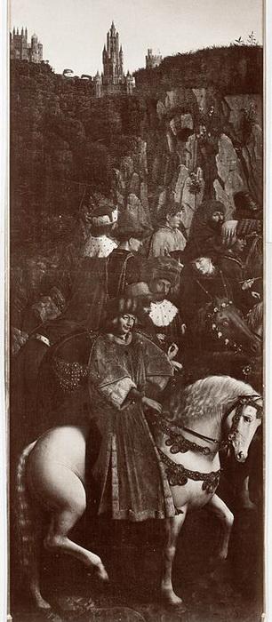 """Ян ван Эйк. """"Праведные судьи"""", створка Гентского алтаря. Фотография с оригинала М. Фридландера"""
