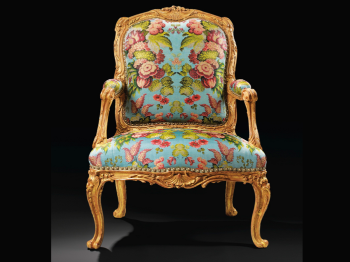 Кресло-бержер, принадлежавшее маркизе де Помпадур