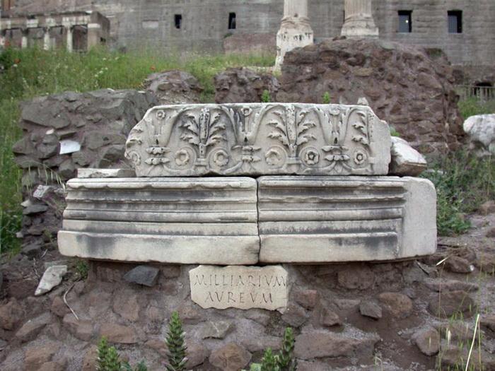 «Золотой мильный камень» на месте римского Форума