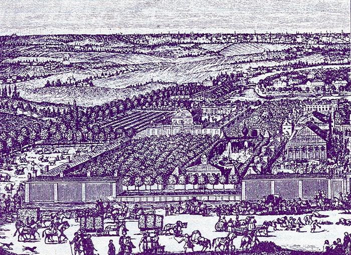 Немецкая слобода в конце XVII века. Гравюра Г. де Витта