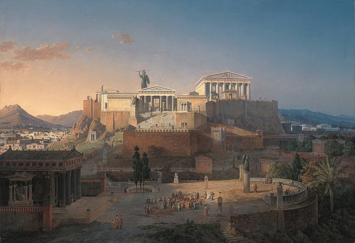 Л. фон Кленце. Афинский Акрополь