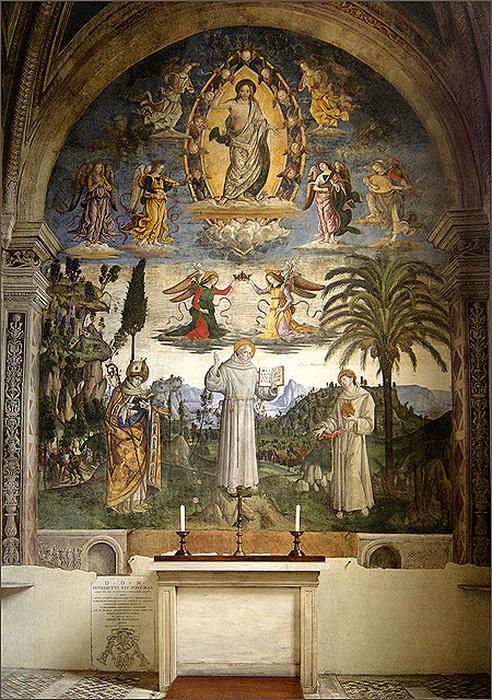 Фреска Пинтуриккио в церкви Санта-Мария-ин-Арачели в Риме