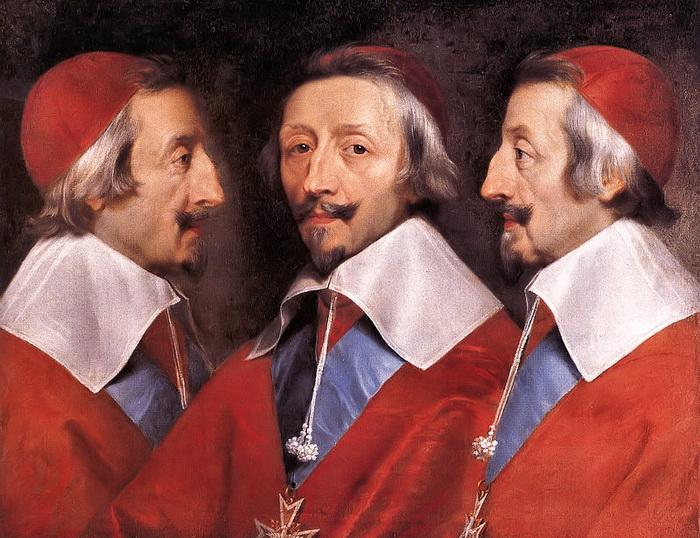 """Ф. де Шампень. """"Тройной портрет кардинала Ришелье"""""""