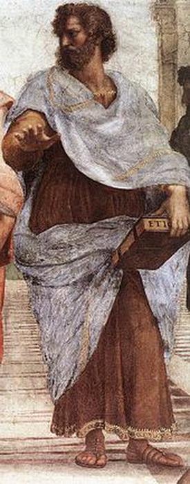 Аристотель работы Рафаэля (фрагмент)