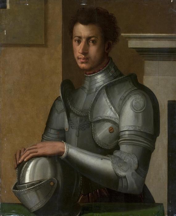 Круг Аньоло Бронзино. Портрет герцога Алессандро де Медичи