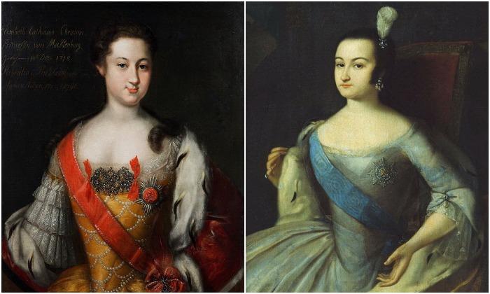 Анна Леопольдовна, придя к власти, сменила красную ленту на голубую