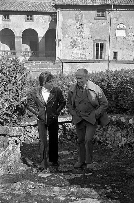 Оливье де Фюнес с отцом