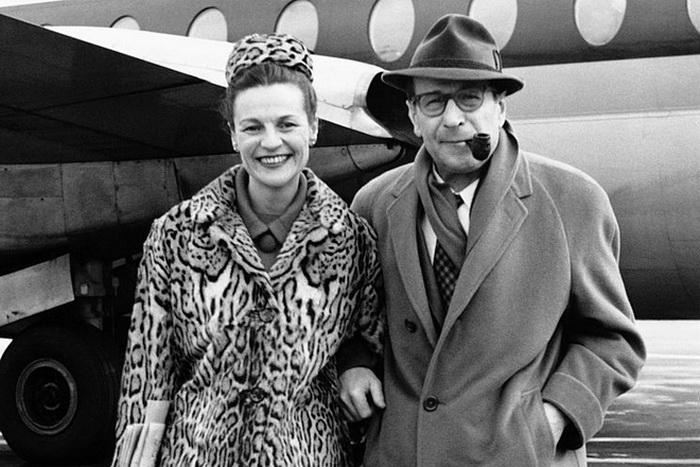 Сименон со второй женой Дениз Уиме