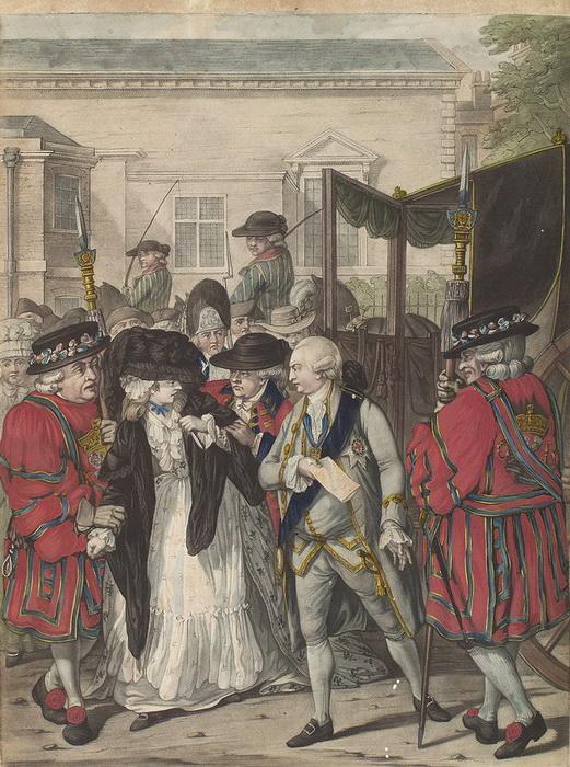 Р. Дайтон. Маргарет Николсон покушается на убийство Его Величества короля Георга III