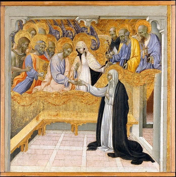 Дж. ди Паоло. Мистическое обручение Святой Екатерины Сиенской