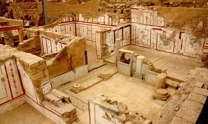 Развалины древнегреческого дома