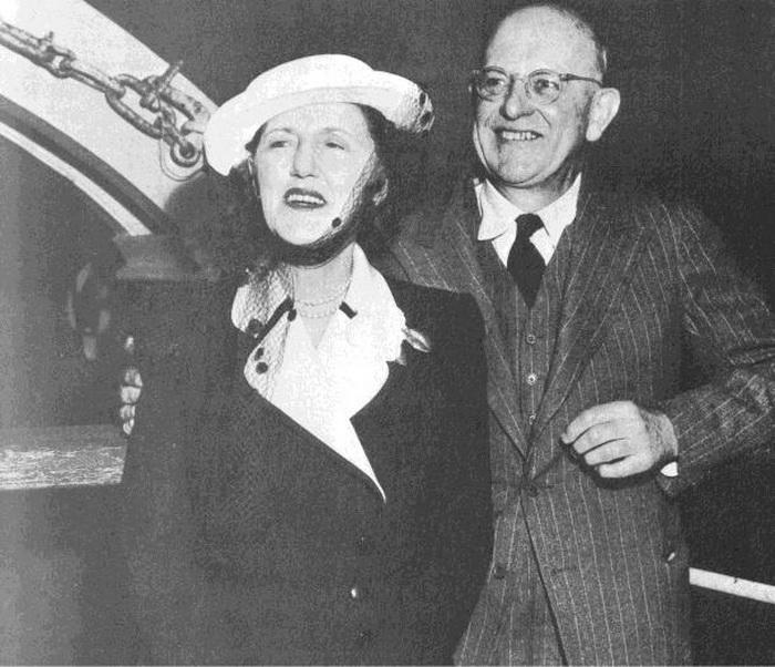 Вудхаус с женой Этель