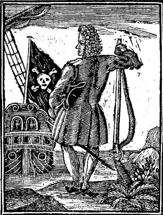 Гравюра из книги Чарльза Джонсона об истории пиратов. 1724 г.