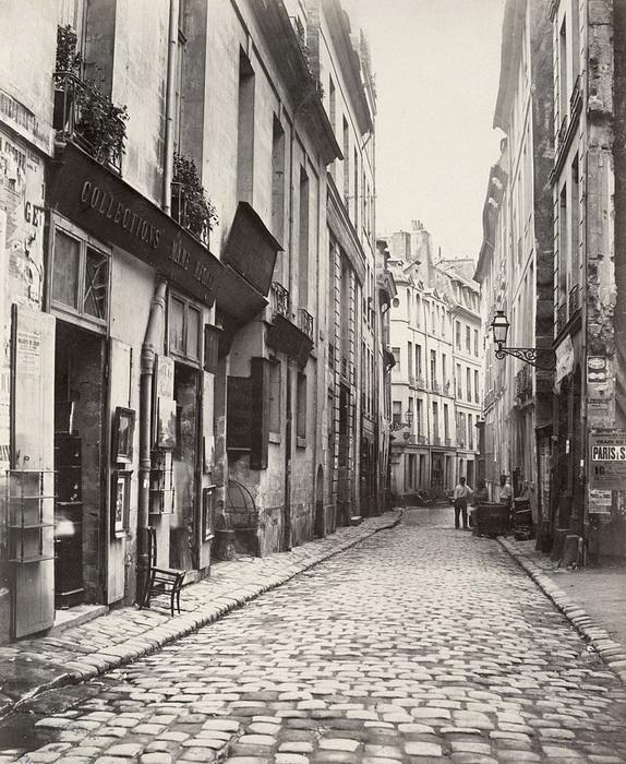 Улица на месте будущего бульвара Сен-Жермен, XIX век