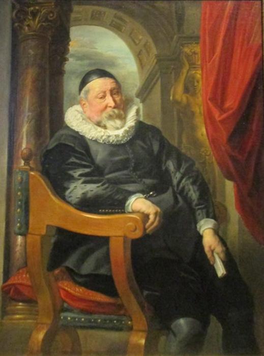 Считается, что на портрете неизвестного художник изобразил своего учителя и тестя ван Ноорта