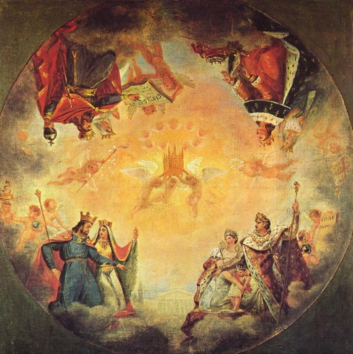 Первоначальный эскиз плафона Пантеона работы Гро